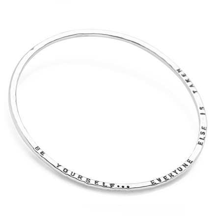 Personalised Hammered Bangle