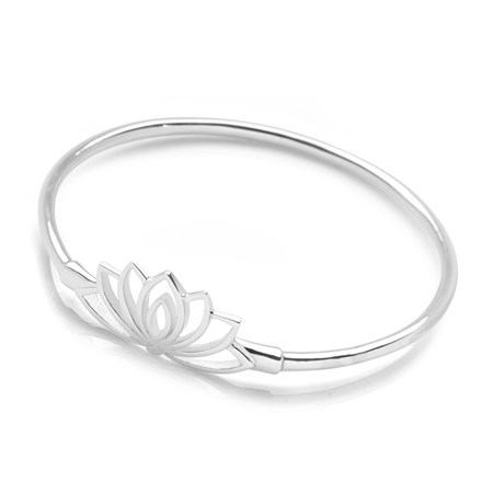 Lotus Flower Bangle