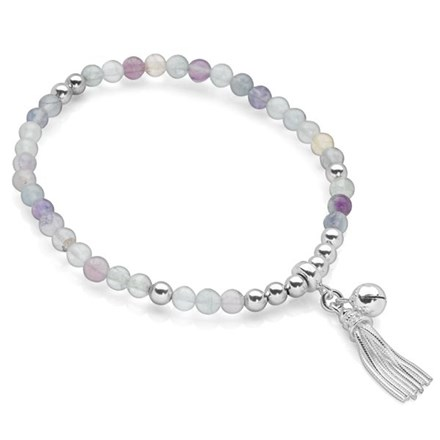 Chime Tassel Bracelet (Fluorite)