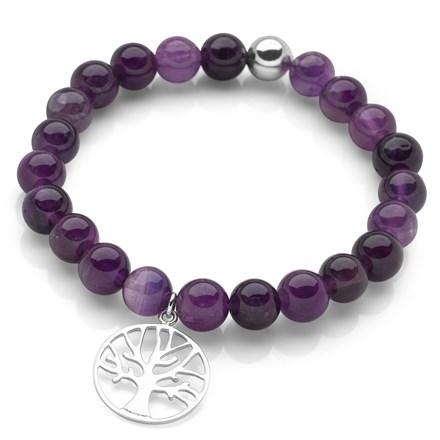 Amethyst Tree of Life Bracelet