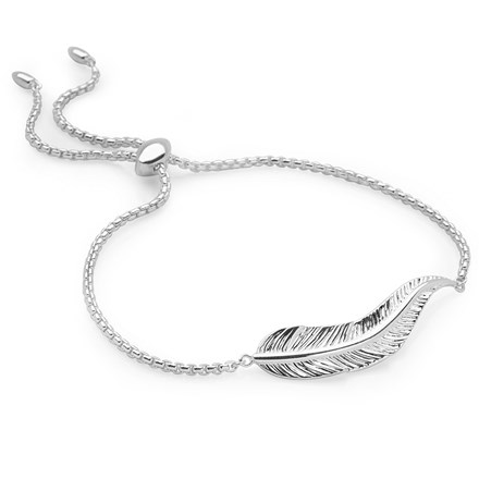 White Feather Bracelet