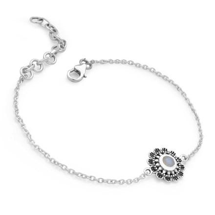 Moonstone Mandala Bracelet