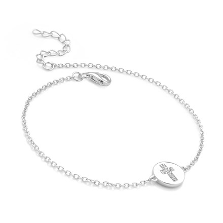 Sparkling Cross Bracelet