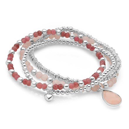 Pink Blush Bracelet Stack
