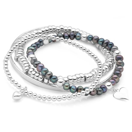 Midnight Love Bracelet Stack