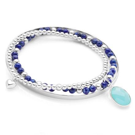 Chalcedony Drop Bracelet Stack