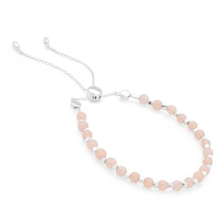 Bijou Toggle Bracelet (Rose Quartz)