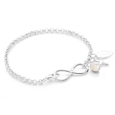 Infinite Charm Bracelet (White)