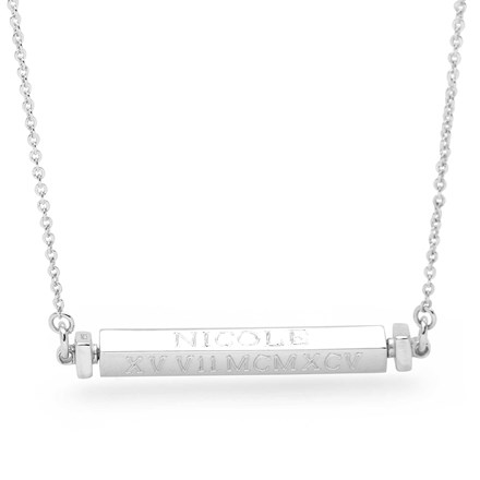 Personalised Spinning Bar Chain