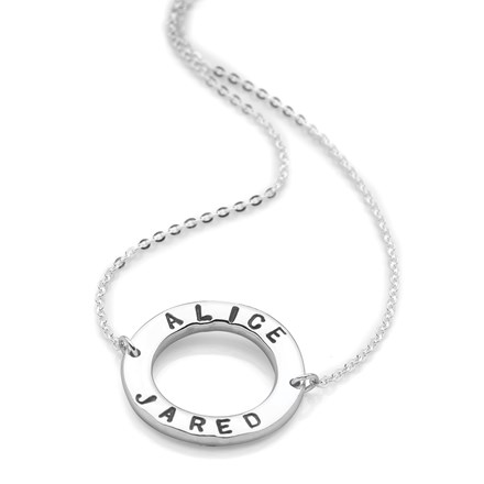Personalised Circlet Necklace (Silver)