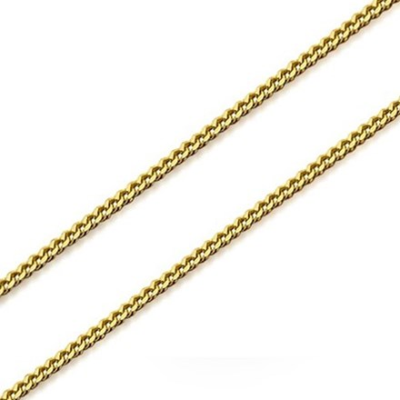Gold Plated Curb Chain 40cm