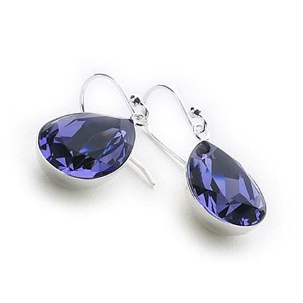 Crystal Tears Earrings (Tanzanite)
