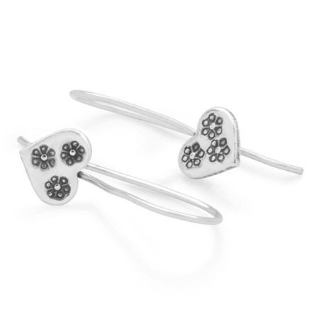 Ditsy Heart Earrings