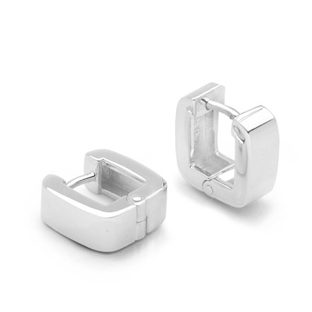 Mini Cube Hoop Earrings