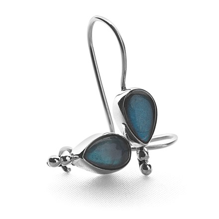 Labradorite Tear Earrings