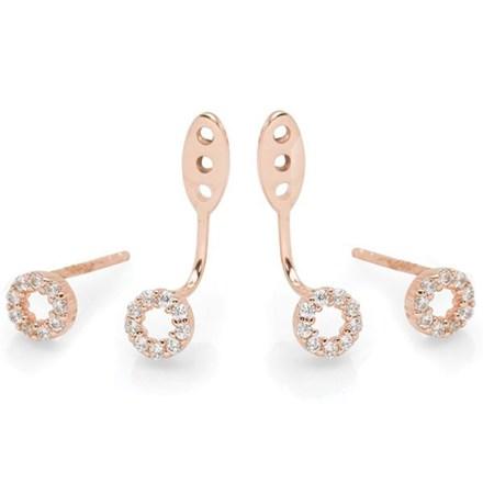 Aurora Rose Earrings (Ear Jacket)