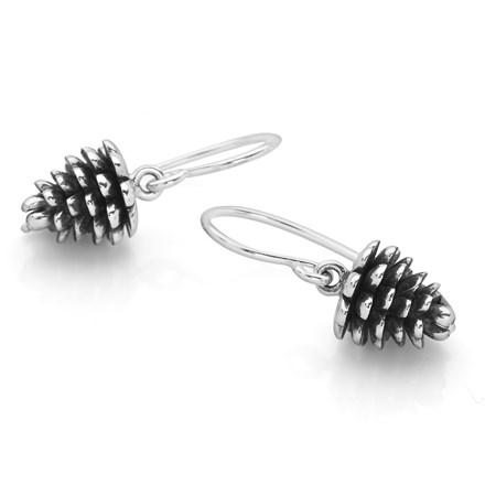 Silver Pine Cone Earrings