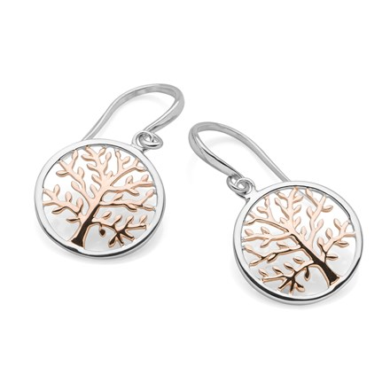 Golden Tree of Life Earrings