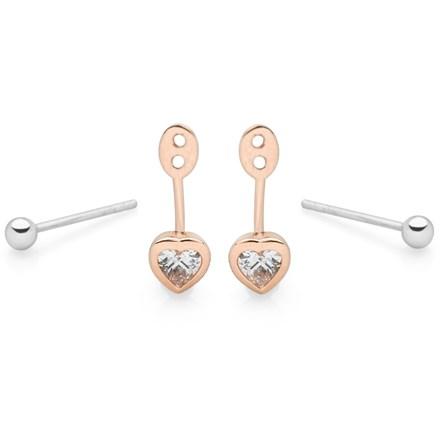 Heart Beat Earrings (Ear Jacket)