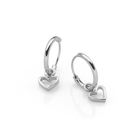 Love Charm Hoops