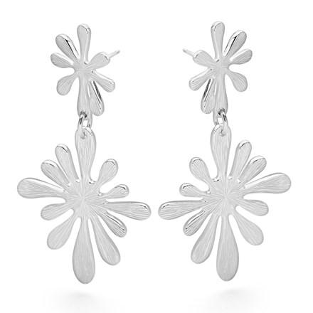 Silver Splash Earrings