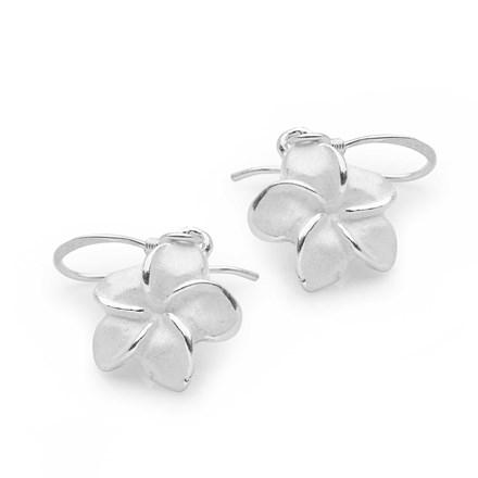 Frosted Petal Earrings