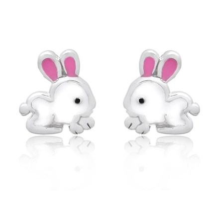 Belle Bunny Children's Studs