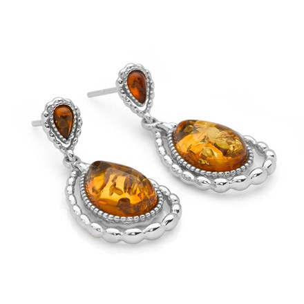 Cognac Rain Earrings