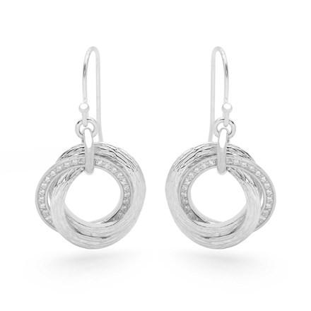 Sparkling Russian Wedding Earrings