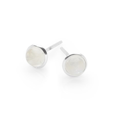 Moonstone Button Studs
