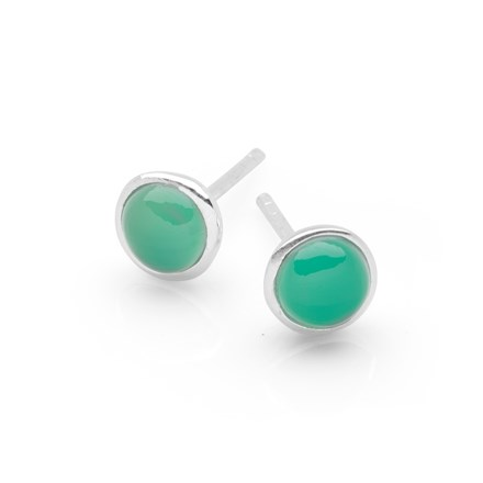 Agate Button Studs
