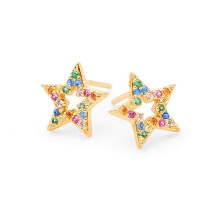 Rainbow Star Studs