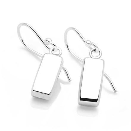 Silver Pillar Earrings