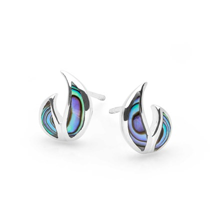 Abalone Flame Studs