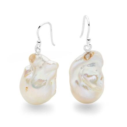 Seafoam Pearl Earrings