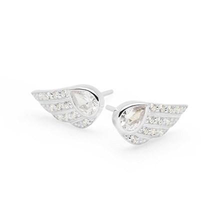 Diamante Wings Studs