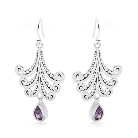 Amethyst Essence Earrings