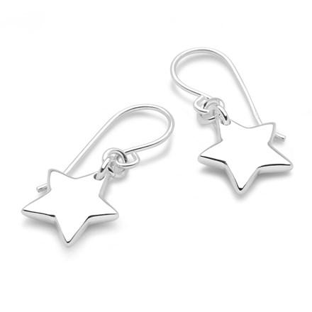 Silver Starfall Earrings