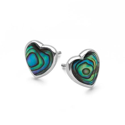 Abalone Heart Studs