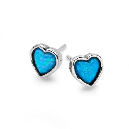Heart of Opal Studs