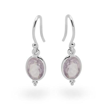 Amethyst Mirror Earrings