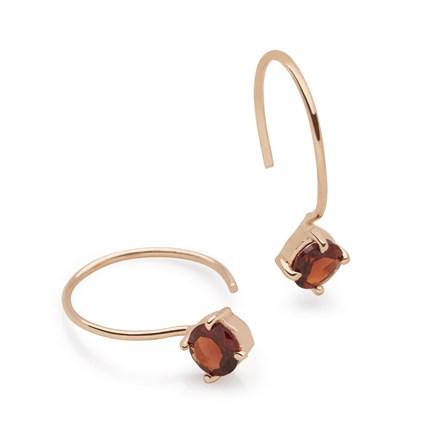 Garnet Aura Earrings