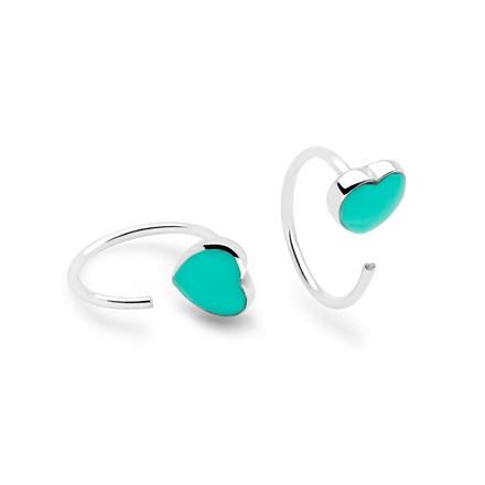 Tiki Heart Earrings