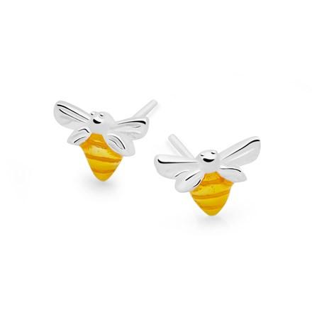 Golden Bumblebee Studs