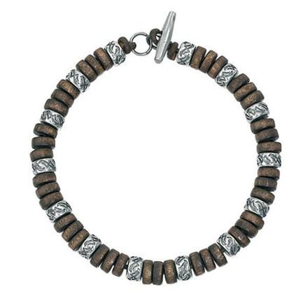 Oxidised Wooden Bracelet