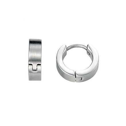 Brushed Steel Earrings