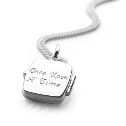 Square Plain Locket (Engravable)