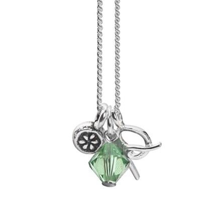 August Initial Charm Pendant
