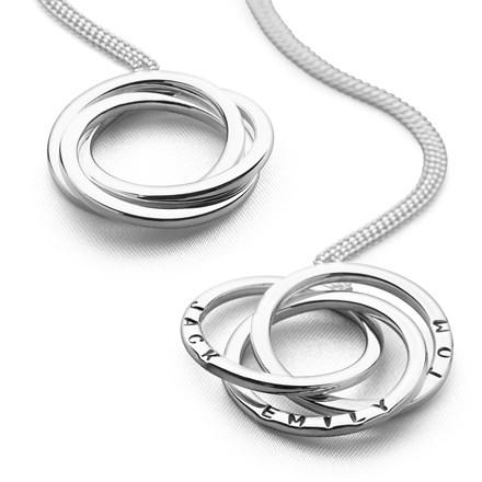Personalised Russian Rings Pendant