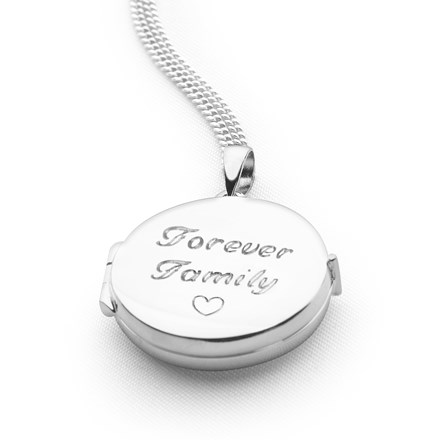 Round Plain Locket (Engravable)
